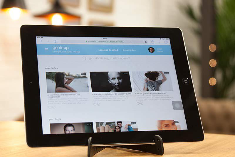 genteUp, el lugar para consultar vídeos de salud y bienestar en internet
