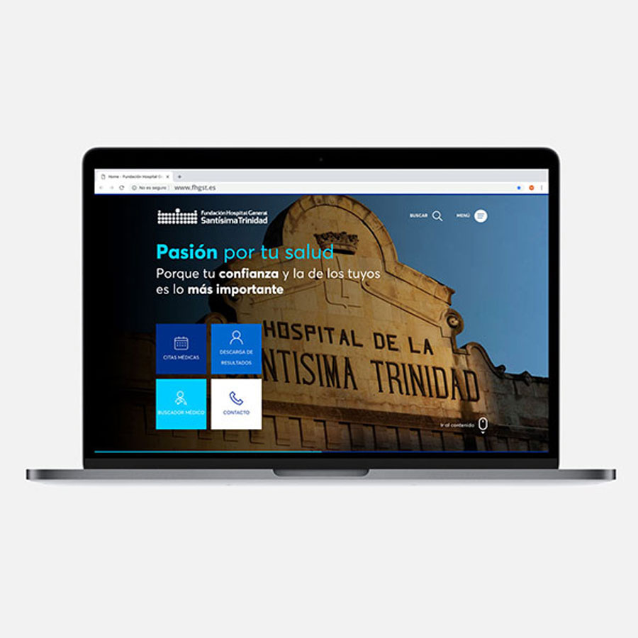Nueva web de Fundación Hospital General Santísima Trinidad